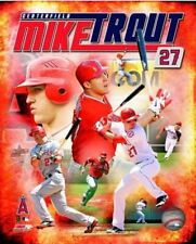 Framed Angels Mike Trout Magical 9X11 Art Print Limited Edition w//signed COA