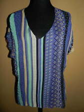 New Women's Sanctuary Clothing Glass Boat Stripe Tee Sheer Top NWT LARGE