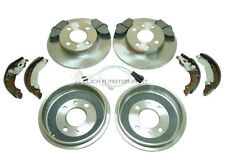 FIAT PUNTO MK2 60 1.2 8V 99-05 REAR BRAKE DRUMS AND SHOES FRONT DISCS & PADS SET