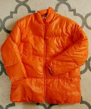 Vintage HIRSCH WEIS Portland Hunter Orange GOOSE DOWN Full Zip Puffer Jacket XL
