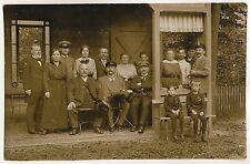 Sachsen WOLKENSTEIN Erzgebirge / Gesellschaft in Gartenlaube * Foto-AK um 1915