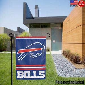 Buffalo Bills 2 Sided Double Garden Flag Outdoor Window Banner 12 x18 New.