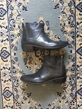 Women's H by Hudson London Black Fop Leather Ankle Boots Size 8 8.5 39 ShopBop