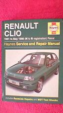 Haynes Service & Repair Manual - Renault Clio  1991 - 1998  Petrol (1999)
