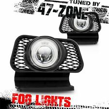 For Chevy Avalanche Silverado White Halo Clear Projector Lens Fog Light Lamp Set