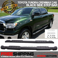 Fit 07-20 Toyota Tundra Crewmax Cab OE Black Side Step Running Board Aluminum