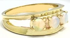 Natural 0.58 Carats AUSTRALIAN OPALS RING 14k * FREE APPRAISAL *PRICE REDUCED*