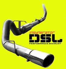 """New 4"""" Turbo Back Stainless Exhaust 94-02 Dodge Ram 2500 3500 5.9L Diesel w/ Tip"""