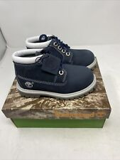 Vintage Timberland Toddler Boots Chukka Navy Blue 11854 New In Box Size 9.5