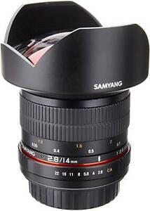 Samyang 2.8/14mm Sony E mount full frame lense.