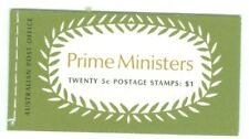 AUSTRALIA-446-449. PRIME MINISTERS  BOOKLET 20-5c STAMPS 4 PANES ISSUED 1968