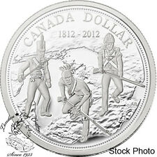 Canada 2012 $1 200th Anniv. War of 1812 Proof Silver Dollar - in Capsule Only