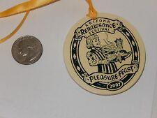 Arizona Renaissance Festival 2007 Pleasure Feast Ceramic Pendant Medal