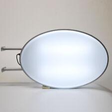 Projecting 2 Sided Blank Illuminated Oval Light Box Sign 55x80cm