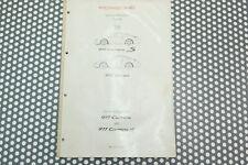 Porsche 993 Informations Technique Original Manuel D'Atelier