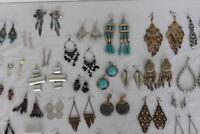Jewelry Lot 48 Pairs Chandelier Dangle Drop Pierced Earrings Vintage to Modern