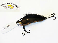 Timber Mudeye Lure Mohawk Cod,Barra Lure 130mm col;Black and Gold scale