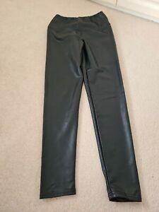 All Saints Womens Cora High Rise Skinny Leather Look Leggings uk size 12