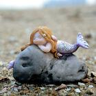 Resin Miniature Mermaids Fairy Garden Figurines Art Works Fish Tank Home Decro