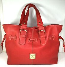 Dooney & Bourke Extra Large Red Pebbled Leather Tote Bag