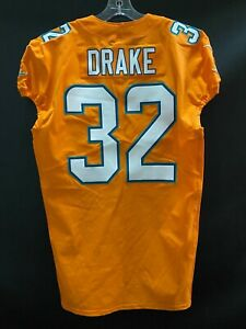 #32 KENYAN DRAKE MIAMI DOLPHINS TEAM ISSUED ORANGE COLOR RUSH JERSEY SIZE 44