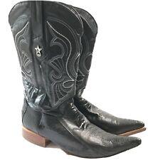 Los Altos Western Boots Genuine Ostrich Width EE Men's 11.5