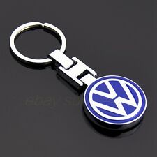 Metal Double Side Car Logo Keyring Key Chains Pendant Holder with Box for VW