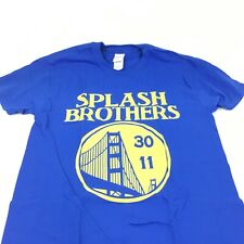 Splash Brothers Shirt Blue, Medium. Golden State Stephen Curry Klay Thompson