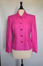 NWOT TALBOTS Petites 100% Pure Silk Cyclamen Light Pink Women Blazer Jacket Sz 8
