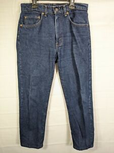 LEVI'S Men's Dark Wash 505 High Rise Regular Fit Straight Leg Jeans size 32X29