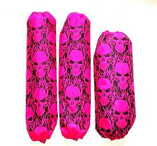 Shock Covers Yamaha Raptor 350 660 700 700R Pink Skulls ATV Set of 3