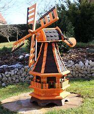 Windmühle Windmühlen mit Solarbeleuchtung Typ 4 Auswahl aus 4 Dachfarben
