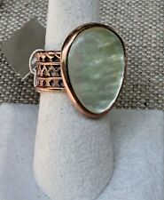 Barse Natural Caramel Mother Of Pearl Copper Ring Size 8