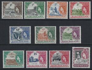BASUTOLAND 1954 QEII Pictorial Set to 10/- (11) MNH