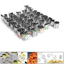 Hot Alphabet Letter & Number Fondant Icing Cutter 37 Piece Decorating Cake Mold
