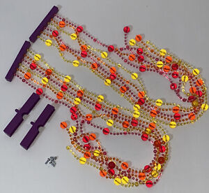 2 American Girl Doll Julie Bed Replacement Canopy Beads Fringe Sections Purple