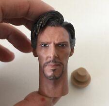 █ Custom Benedict Cumberbatch Doctor Strange 1/6 Head Sculpt for Hot Toys Body █