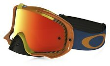 Maschera Oakley Crowbar Mx Bio Hazard Arancio Fire Iridium & Clear 59-406 Cross