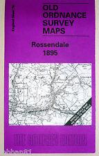OLD ORDNANCE SURVEY MAP ROSSENDALE AREA & MAP TURTON BOTTOM CHAPELTOWN 1895 S76