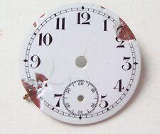 Vintage Enamel Pocket Watch Dial Esfera Cadran Zifferblatt 30mm