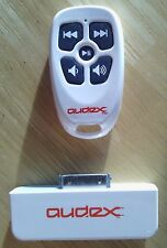 Used Burton White Audex Water Resistant Rf Remote Control for Apple iPod