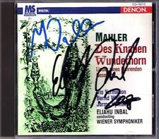 Eliahu NBAL & Iris VERMILLION Signed MAHLER Des Knaben Wunderhorn DENON Japan CD