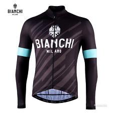 NEW 2020 Bianchi Milano BIANZONE Long Sleeve Cycling Jersey : BLACK