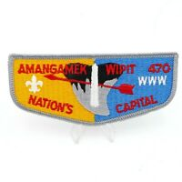 Amangamek Wipit Lodge 470  Nations Council OA Boy Scout Flap Patch BSA WWW