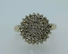 9ct Yellow Gold 0.50ct Diamond Cluster Ring