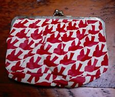 Icing by Claires Red White Swallows Birds Small Handbag Clutch w/ Coin Purse