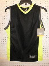 EVERLAST Boy's S / M / L Black & Lemon Lime Muscle Tank Shirt  FREE Shpg NWTA