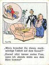 N°43 Humour Humor Fauteuil rehausseur Armchair Germany Allemagne IMAGE CARD 30s