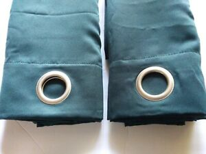 Mainstays Green Panels groomed 84 in. Window curtain dark green. (D)