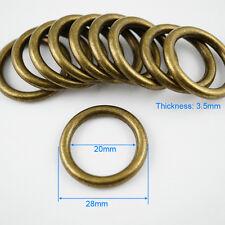 30 Pieces 20mm Antique Brass Color Metal O Ring For Purse Bag Handbag
